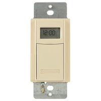 Intermatic EI600C - In-Wall Decorator Time Switch - Digital 7-Day Astronomic - 40 On/Off Operations Per Week - Single Pole or 3 Way - Ivory
