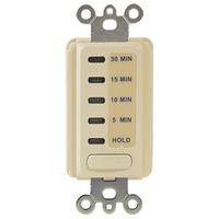 Intermatic EI200 - Electronic In-Wall Timer Switch - Auto-Off - 5/10/15/30 Min. Time Range - Single Pole - 120 Volt - Ivory