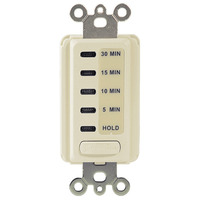 Intermatic EI200LA - In-Wall Electronic Auto-Off Timer - 5/10/15/30 Min Time Range - Single Pole - 120 Volt - Light Almond