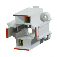 2 Pin G24d-3 CFL Socket - Bottom Snap-In Mount - Use with 26 Watt Twin Tube Lamps - Rated 75W-600V