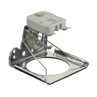 GY5.3 Socket for MR-16 size lamps - 2 pin for flat pins - With bracket, circular frame and lamp ejector - PLT QHV1