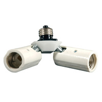 2 Socket Adapter for Medium Base - 3.75 in. Extension - 120V - Satco 77-607