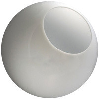 14 in. White Acrylic Globe - 5.25 in. Opening - Neckless Cut - American PLAS-14PW
