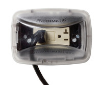 Intermatic WP3100C - Weatherproof Receptacle Cover - Single Gang - Clear - 2-3/4 in. Standard Depth