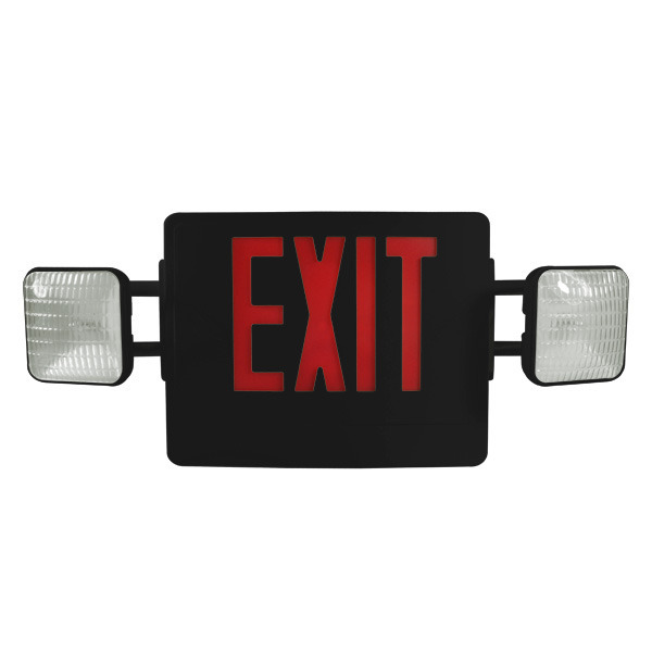 LED Combination Exit Sign - Tungsten Lamp Heads Image