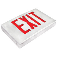 LED Exit Sign - Die Cast Aluminum - Red Letters - 120/277 Volt Only (No Battery) - Exitronix 400U-LB-WW