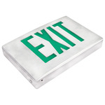 LED Exit Sign - Die Cast Aluminum - Green Letters Image