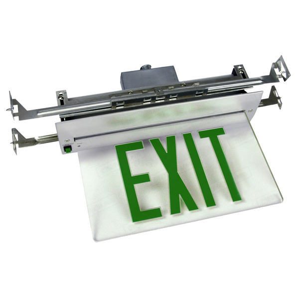 LED Exit Sign - Value Edge-Lit - Green Letters Image