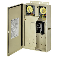 Intermatic T40404R - Pool-Spa Mechanical Control Panel - (2) T104M Mechanisms - Steel Case - Beige Finish - DPST - 125 Amps - 240/240 Volt