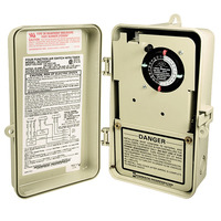 Double Circuit Air Switch - 4-Function - Beige Finish - Plastic Case - 120-240 Volt - Intermatic RC2343PT