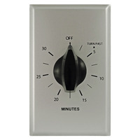 Precision PM-30M - Commercial Spring Wound Auto-Off Timer - 30 Min Time Cycle - SPST - Brushed Aluminum