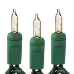 6 ft. String Lights - (10) Mini Lights - CLEAR - 5.25 in. Bulb Spacing - Green Wire Image