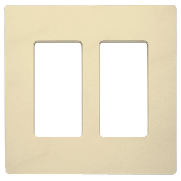 Decorator Wall Plate - Ivory - 2 Gang Image