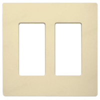 Ivory - Screwless - 2 Gang - Decorator Wall Plate - Lutron Claro CW-2-IV