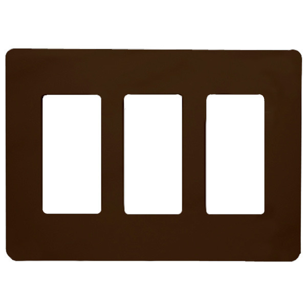 Decorator Wall Plate - Brown - 3 Gang Image