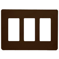 Brown - Screwless - 3 Gang - Decorator Wall Plate - Lutron Claro CW-3-BR