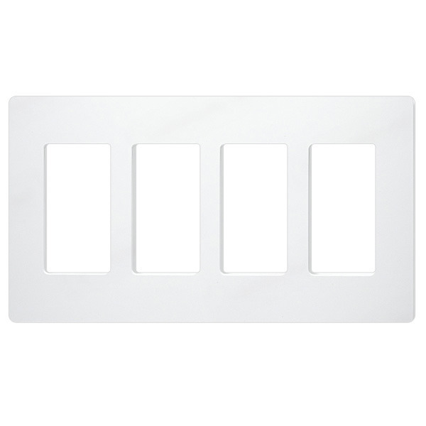 Decorator Wall Plate -  White - 4 Gang Image