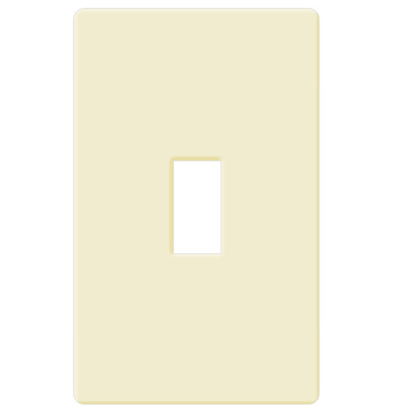 Toggle Wall Plate - Almond - 1 Gang Image