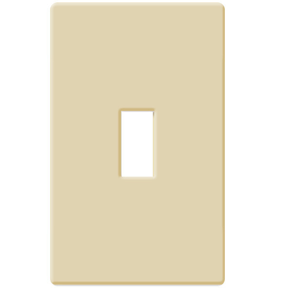 Toggle Wall Plate - Ivory - 1 Gang Image