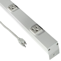 Curtain Strand Light Bar - 12 Outlets - 6 ft. Length - White - 120 Volt