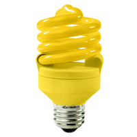 Spiral CFL - 18 Watt - 75W Equal - Yellow Bug Light