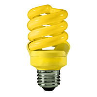Spiral CFL - 13 Watt - 60 Watt Equal - Yellow - Yellow Party Light - Medium Base - 120 Volt - TCP 48913Y