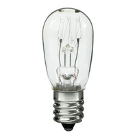 6 Watt - S6 Indicator Incandescent Light Bulb - Clear - Candelabra Base - 130 Volt - Satco S3900