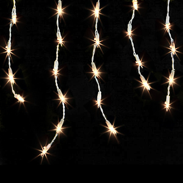 (Set of 2) 13.8 ft. Icicle Stringers - 300 Total Mini Lights - CLEAR  Image