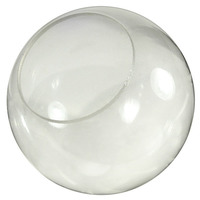 16 in. Clear Acrylic Globe - with 5.25 in. Neckless Opening - American PLAS-16PC