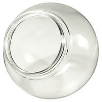 12 in. Clear Acrylic Globe - with 3.9 in. Extruded Neck Opening - American PLAS-12NC