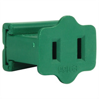 Green - Female Gilbert Replacement Plug for Commercial Christmas Lights - SPT-2 Rated - 12 Pack