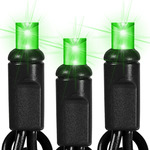 25 ft. String Lights - (50) Wide Angle LED's - LIME GREEN WITH FROSTED LENS Image