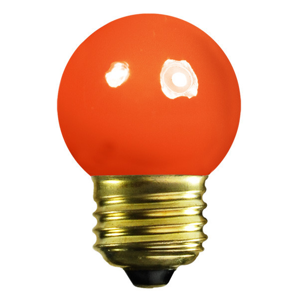 7.5 Watt - G12 Globe - Opaque Orange Image