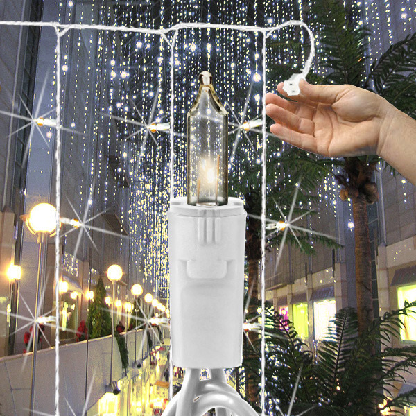 100 bulbs curtain light 5 drops image