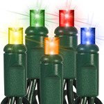 25 ft. String Lights -  (50) Wide Angle LED's - MULTI-COLOR Image