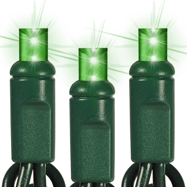 25 ft. String Lights - (50) Wide Angle LEDs - GREEN Image