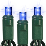 (50) Light - 25 ft. String Lights - 6 in. Spacing - BLUE - Wide Angle LED's Image