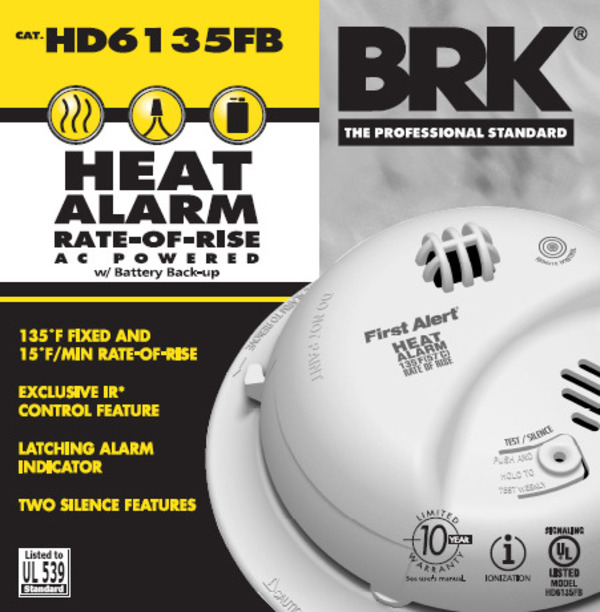 First Alert HD6135FB - Heat Alarm Image