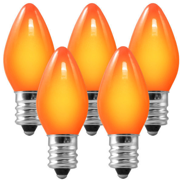 25 Pack - C7 - Opaque Orange - 5 Watt Image