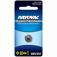 Rayovac 303/357/1ZM - Silver Oxide Button Battery - 1.5 Volt - For Watches and Calculators - 303/357 Size
