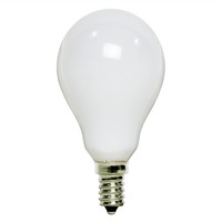 40 Watt - A15 Incandescent Light Bulb - Frost - Candelabra Base - 130 Volt - Satco S4161