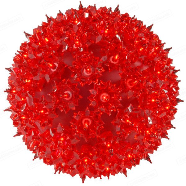 (100) RED Mini Lights - 7.5 in. dia. Starlight Sphere Image