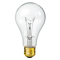 150 Watt - A21 - Rough Service - Clear - 10,000 Life Hours - 1,500 Lumens - 130 Volt