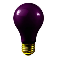 75 Watt - Black Light - A19 - 120 Volt - 500 Life Hours - Party Light Bulb