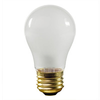 25 Watt - A15 Incandescent Light Bulb - Frosted - Medium Brass Base - 130 Volt - Satco S3815