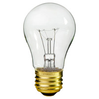 25 Watt - 130 Lumens - A15 - Clear - Appliance Bulb -Medium Base