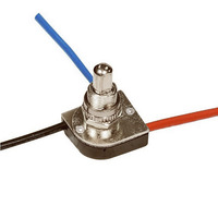 3-Way Push Switch - 6 Amp - Two Circuit - Nickel Finish 3/8 Bushing - 125 Volt - PLT 55-3746-20