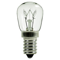 15 Watt - T8 PYGMY Incandescent Light Bulb - Clear - European Base - 120 Volt - PLT IN-0015T8E14