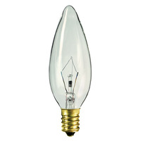 40 Watt - B10 - 220 Volt - Clear - Straight Tip - European Base - 1,000 Life Hours - 330 Lumens