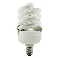 T2 Spiral CFL - 13 Watt - 60W Equal - 4100K Cool White - Candelabra Base